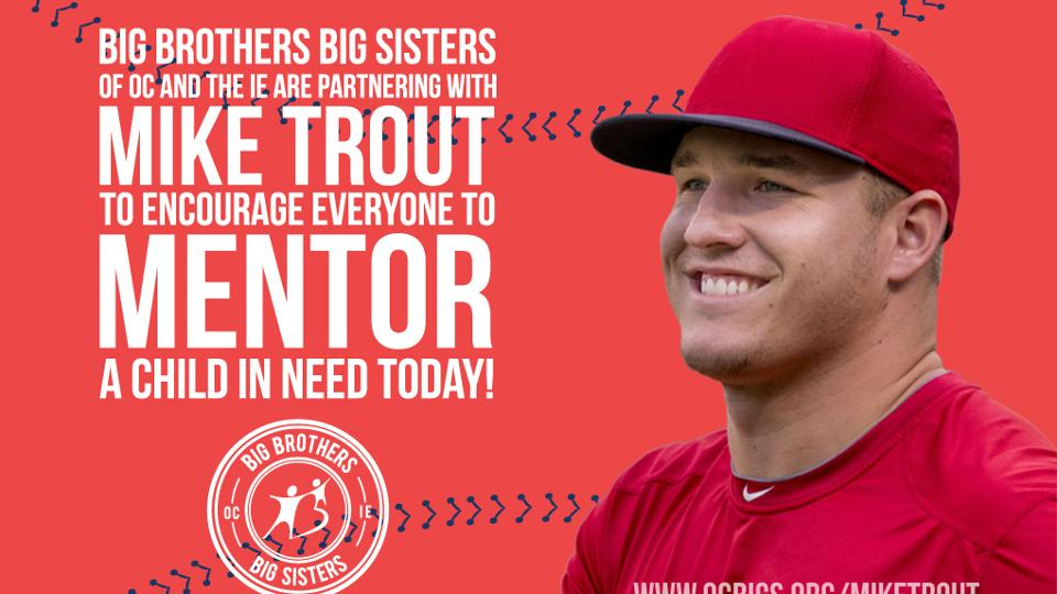 Trout teams up with Big Brothers Big Sisters