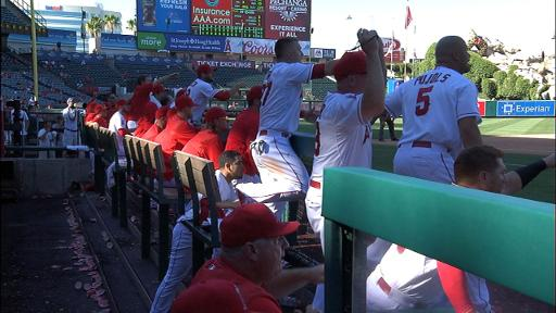 Angels react after Chad Qualls balk