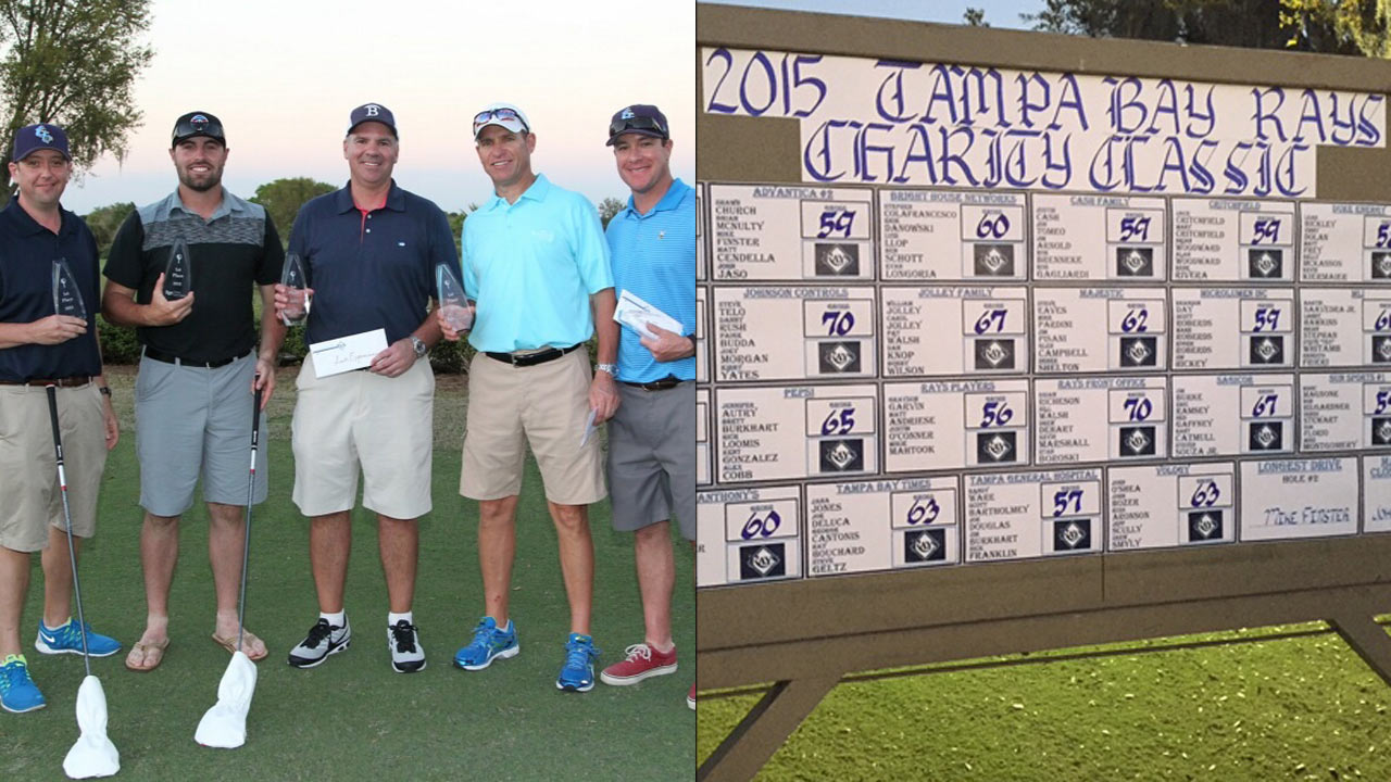 Casali shows off skills in Rays Charity Golf Tournament