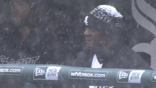 Snowing at US Cellular Field