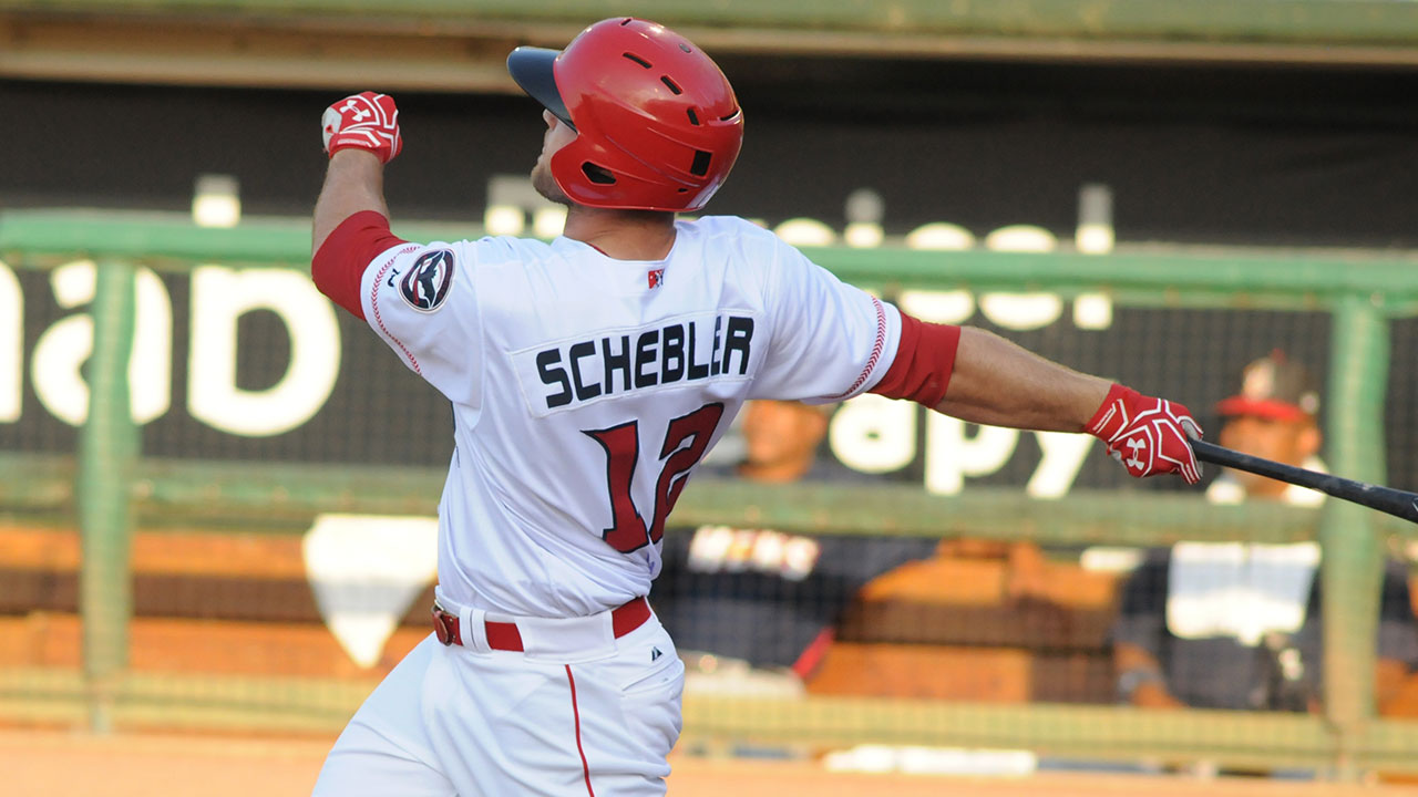 Schebler hits for cycle with Triple-A Louisville