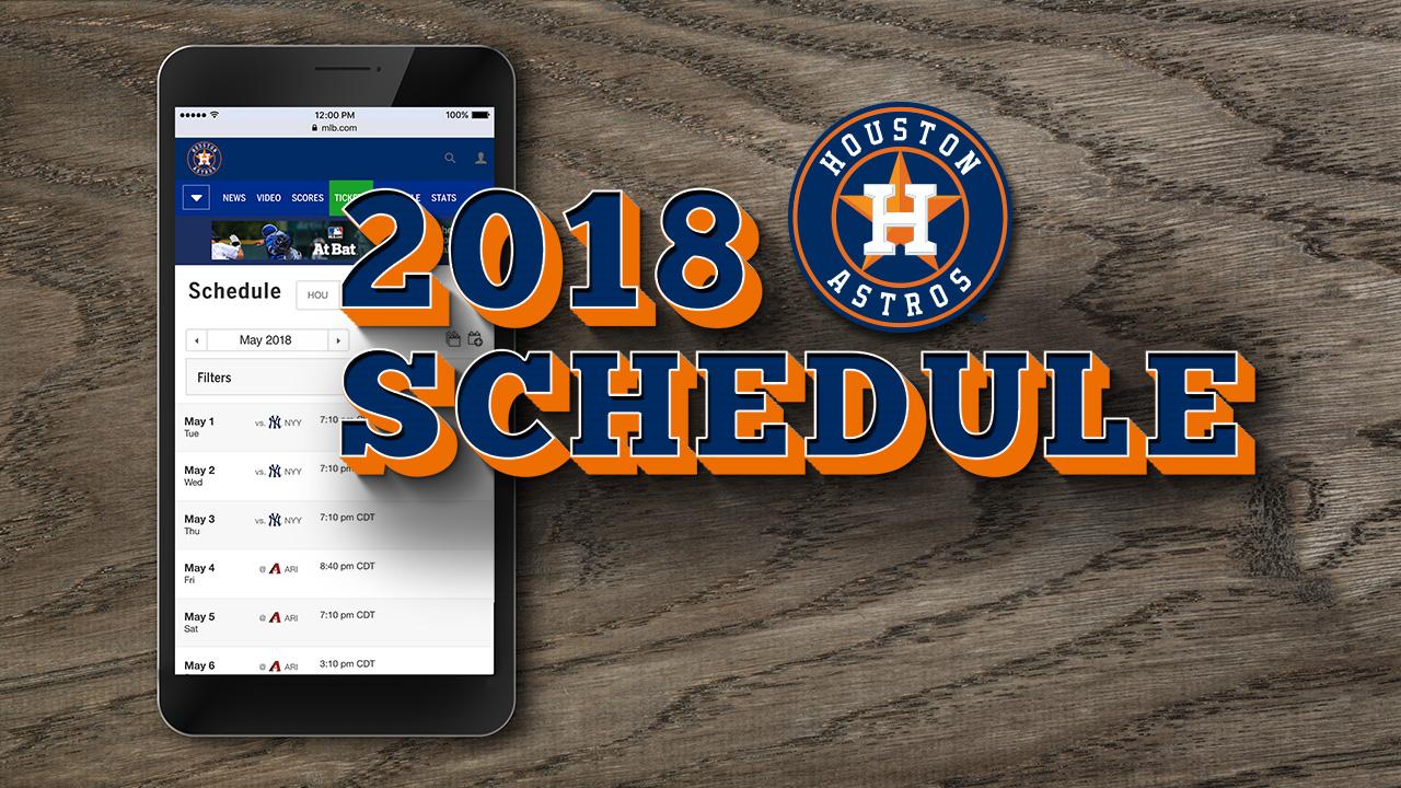 Astros unveil 2018 schedule, open vs. Rangers | MLB.com