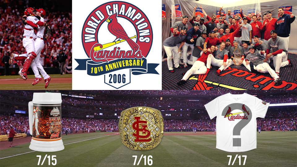 The 2006 World Series 10th Anniversary Weekend Presented By Budweiser Comes To Busch Stadium On July 15 17 When Cardinals Play Marlins Each Game