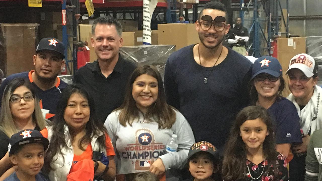 Astros celebrate with Houston philanthropist