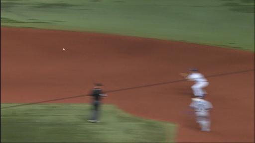 Jose Bautista takes out fielder