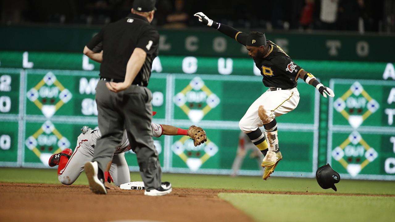 josh harrison homers makes acrobatic play mlb com