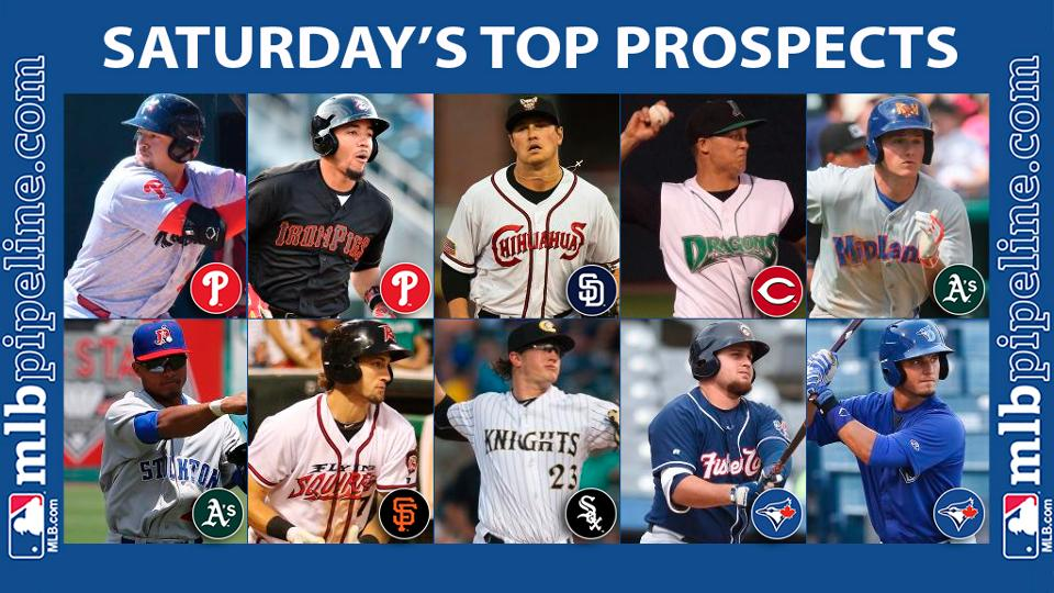 Cozens, Chapman among top prospect performers Saturday