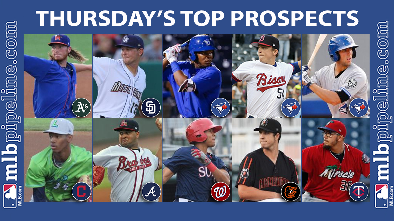 Thursday's best: Puk, Lauer dominate in Double-A duel