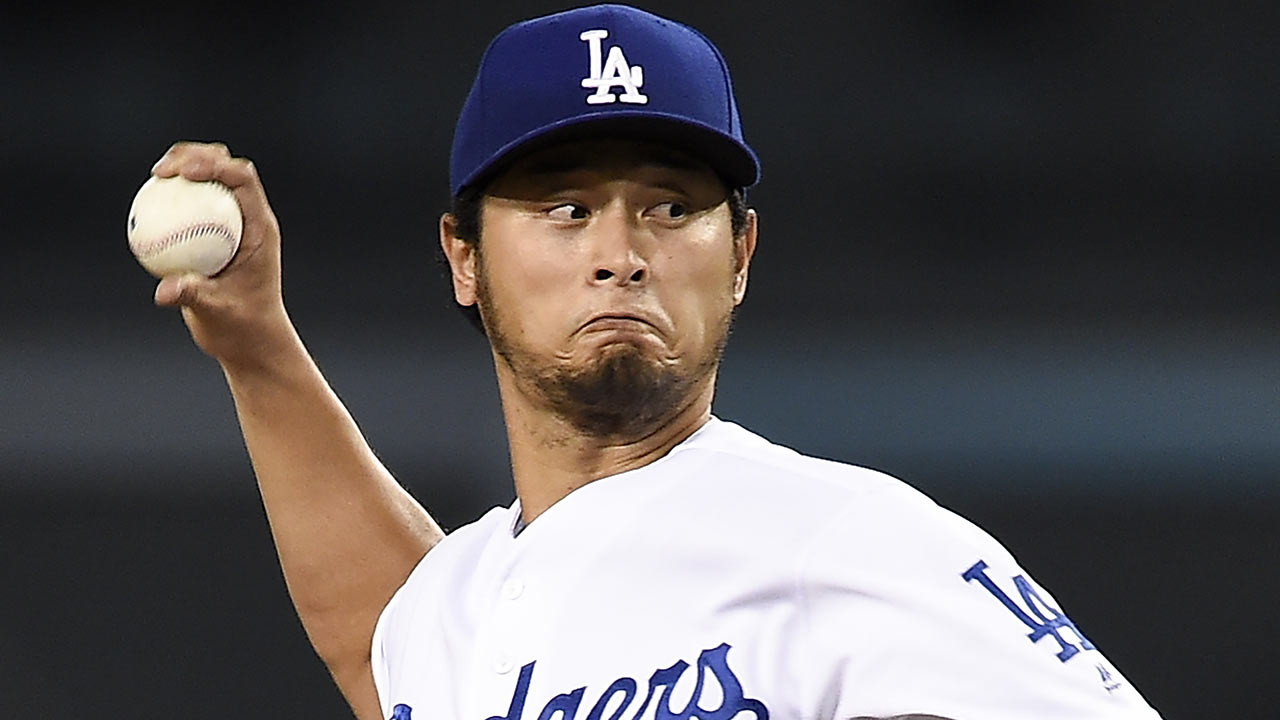 Yu Darvish leads Dodgers to 100th win