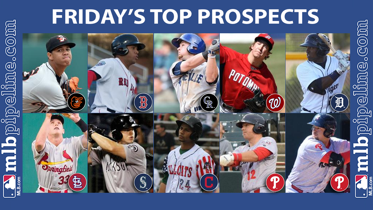 Peralta, Rodgers among top prospect performers Friday