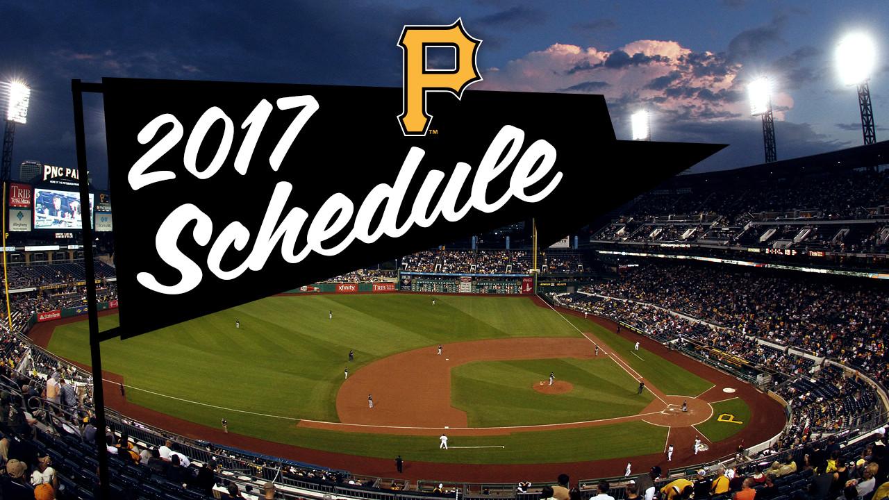 mlb announces pirates' 2017 schedule | mlb