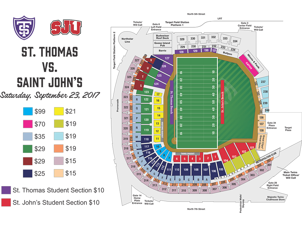 St Thomas Vs Saint Johns Football Game MLBcom - Map of target stores in the us