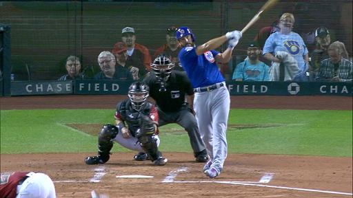 Jake Arrieta swings for homer