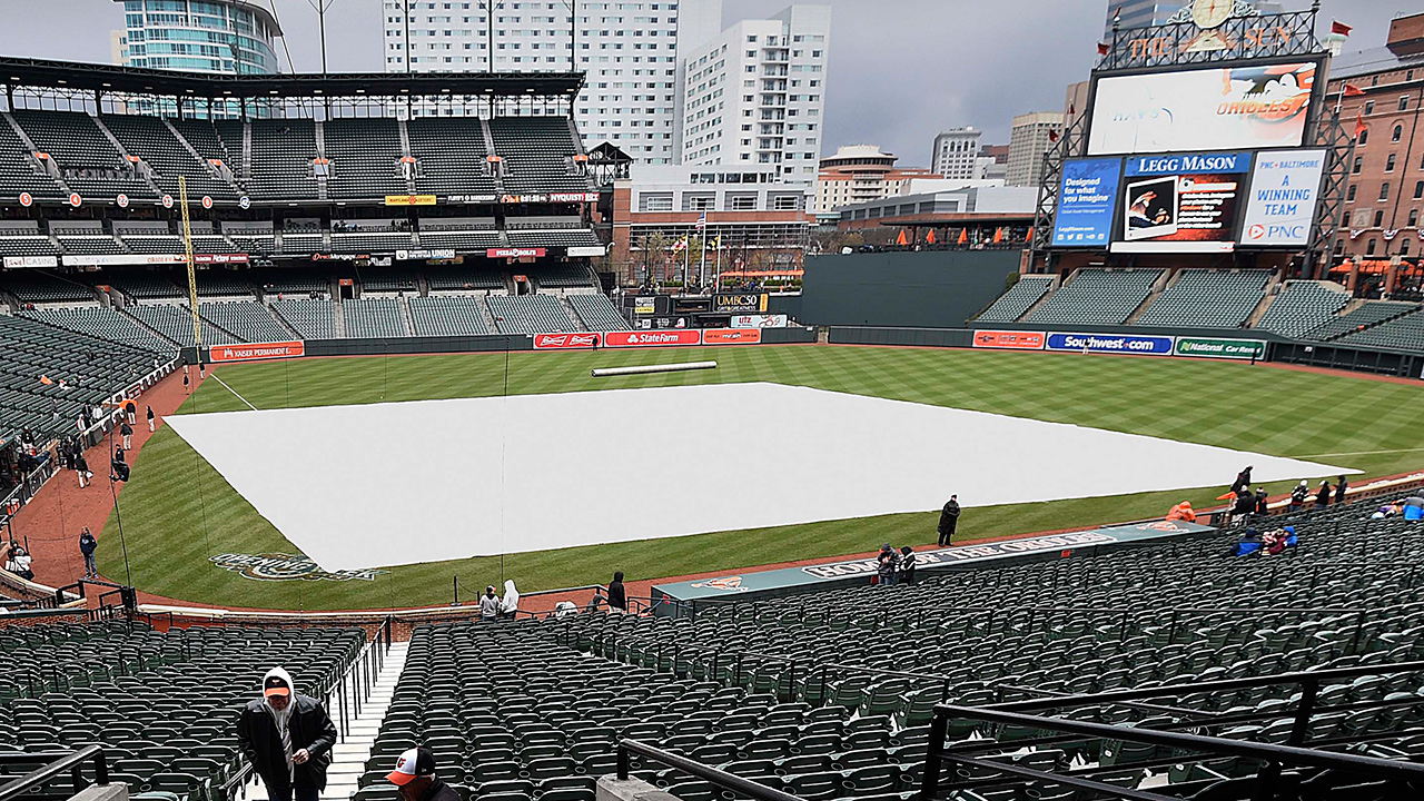 Inclement weather postpones O's game vs. Rays