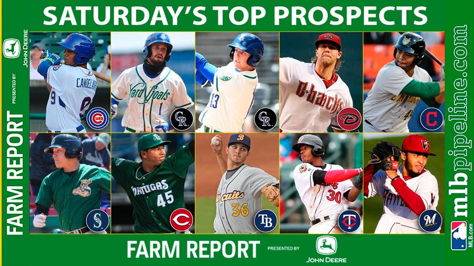 Candelario among top prospect performers Saturday