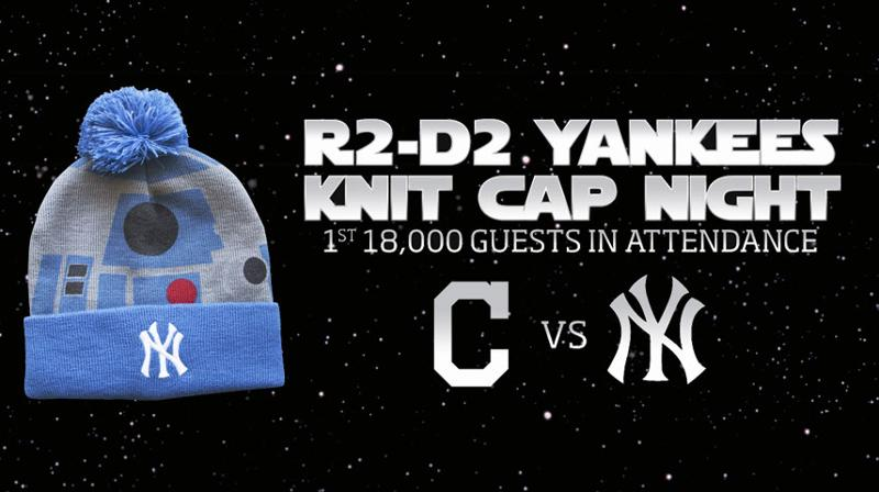 52549f95508 R2-D2 Yankees Knit Cap Night