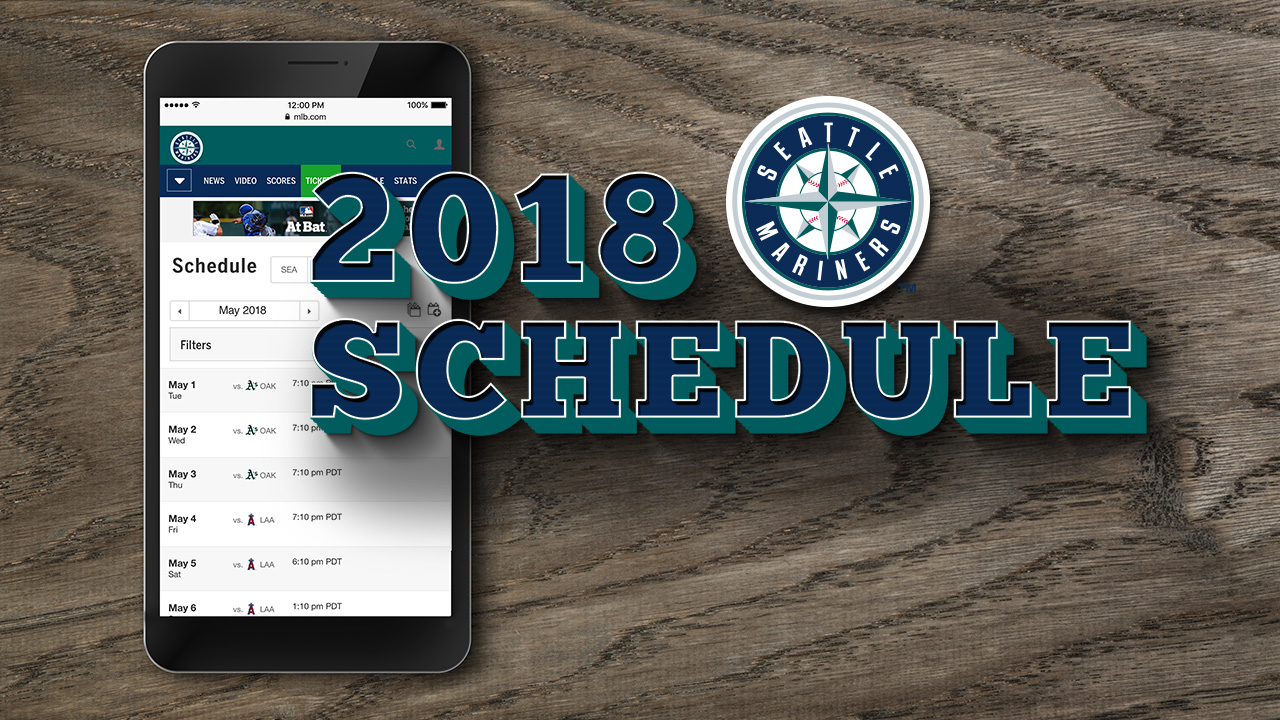 Mariners announce 2018 season schedule