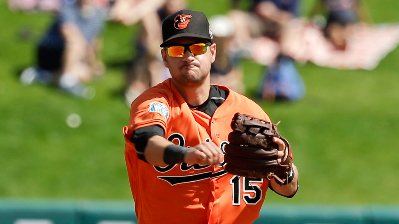 Janish feels 'fortunate' to be back with Orioles