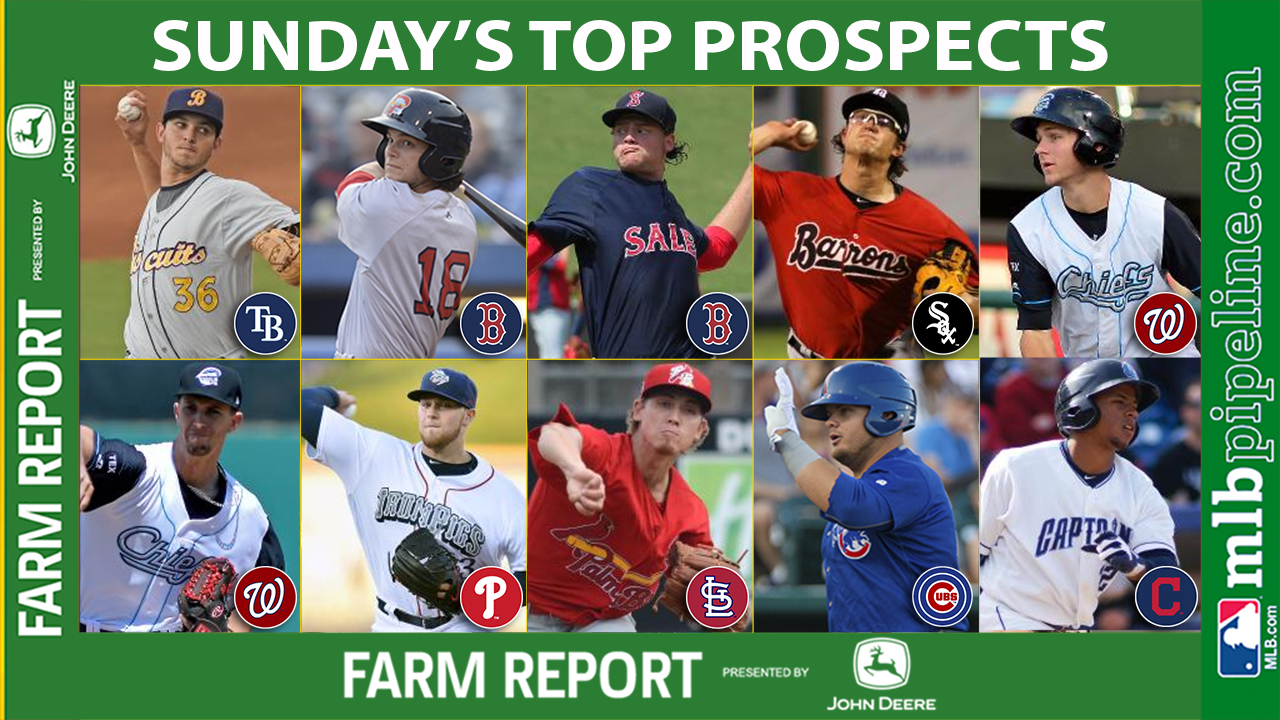 Faria among top prospect performers Sunday