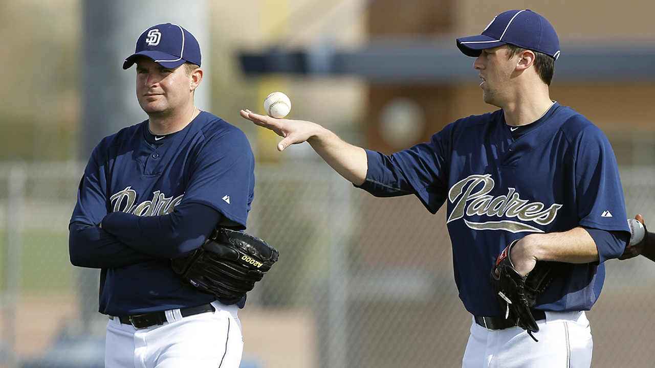 Gregerson, Thatcher have fond memories of time with Padres