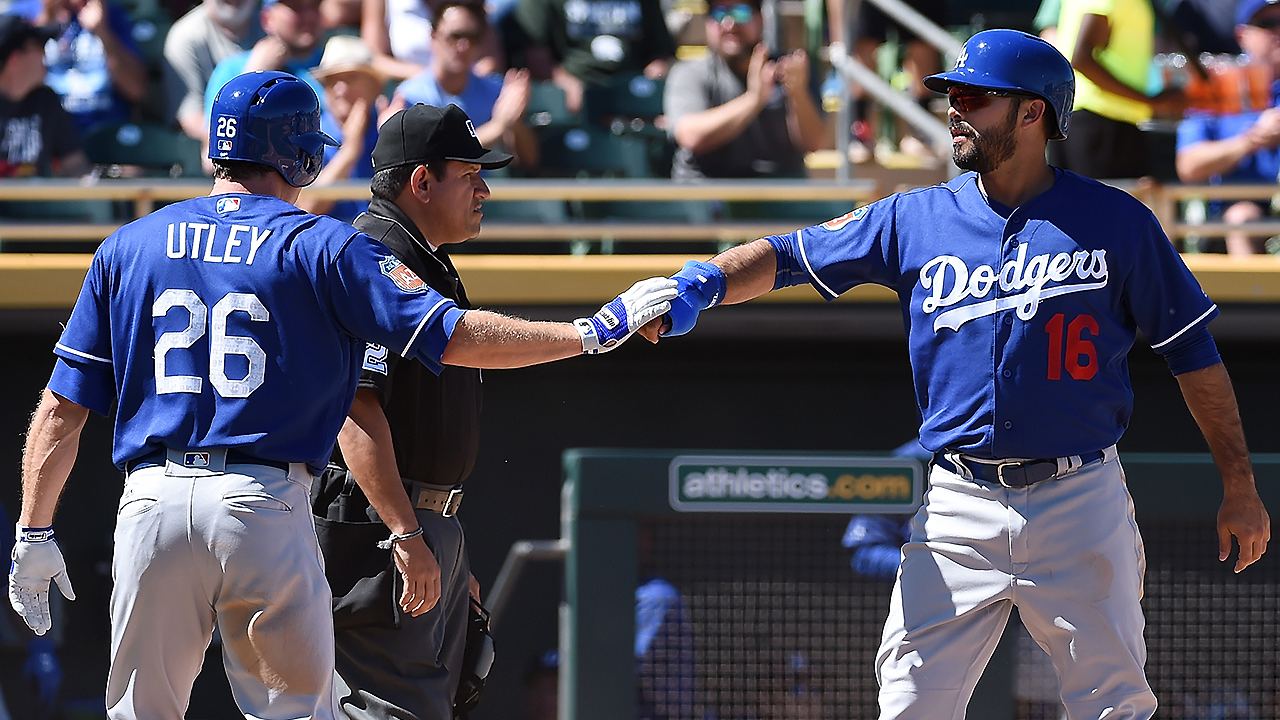 Maeda's arm, Ellis' bat lead Dodgers over A's